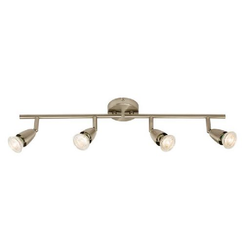 Satin nickel effect plate Spotlight 60995 by Endon